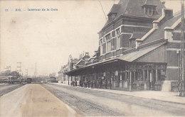 Belgique - Ath - Intérieur Gare De Chemins De Fer - Cachets 1910 Ath Vilvorde - Ath