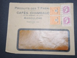 FRANCE - Enveloppe Commerciale De Angouleme En 1945 - A Voir - Lot P13126 - 1921-1960: Modern Period
