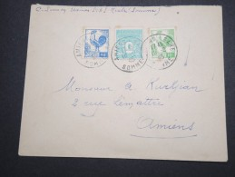 FRANCE - Enveloppe De Amiens Pour Amiens En 1945 - Aff. Type Arc De Triomphe Et Coqs - A Voir - Lot P13128 - 1921-1960: Modern Period