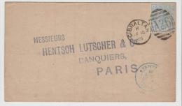 Gib073 / Brief Mit Ausgabe 1880 (Pl. 20) Von Levy  &  Co. 1881 Nach Paris Via Madrid - Gibraltar