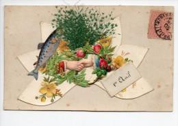 Illustrateur / 1er Avril / Carte à Collages - Noms Sur La CP = Non - 1903 - CAD Imprimés - 1 April (aprilvis)