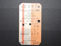 Ticket De Métro De Rotterdam En 1975 - A Voir - Lot P13138 - Subway