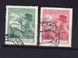 1938 Masaryk Et Enfance Y 335 336 Mi 389 390 - Used Stamps