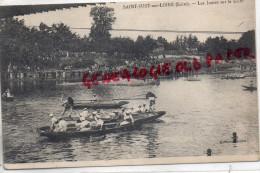 42 - SAINT JUST SUR LOIRE - LES JOUTES SUR LA LOIRE - JEUX - Saint Just Saint Rambert