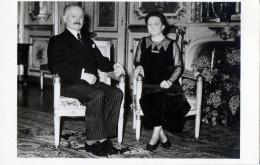 Photo Card / France / Président De La République Française / Albert Lebrun / Marguerite Nivoit - Persönlichkeiten