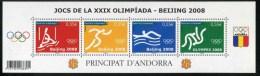 """BF De 4  Timbres** De 2008 """"J.O. D´été à Pékin - Beijing 2008"""" - Französisch Andorra"""