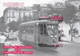 ESTAMPILLA PARAGUAY CENTENARIO DEL FUNCIONAMIENTO TRANVIA EN PARAGUAY - Paraguay
