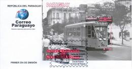 SOBRE PRIMER DIA DE EMISION ESTAMPILLA PARAGUAY CENTENARIO DEL FUNCIONAMIENTO TRANVIA EN PARAGUAY - Paraguay