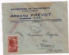 1936 - SEUL Sur ENVELOPPE COMMERCIALE De CAUSSADE (TARN ET GARONNE) - 1921-1960: Modern Tijdperk
