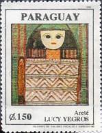 ESTAMPILLA PARAGUAY LUCY YEGROS ARTISTA DEL PARAGUAY - Paraguay