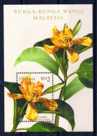 Malaysia - 2001 - Scented Flowers Miniature Sheet - MNH - Malaysia (1964-...)
