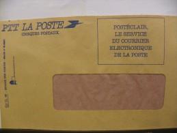Enveloppe CCP Recto Postéclair Verso Vierge - Poste