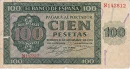 BILLETE DE ESPAÑA DE 100 PTAS 20/05/1936 SERIE N EN CALIDAD RC+ (BANK NOTE) - [ 3] 1936-1975 : Régimen De Franco