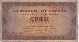 BILLETE DE ESPAÑA DE 100 PTAS 20/05/1938 SERIE G (BANK NOTE) - 100 Pesetas