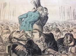 1876 Journal LE GRELOT - ILS S'ENDORMENT SUR LE R�TI Par P�PIN - GAUCHE - PROJET - RATS - CHAMPIGNON - ESCARGOT