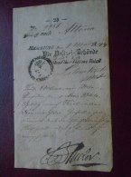 ALTONA -HAMBURG  -Die Polizei Behörde - KIEL   - Old Handwritten Passport Page ? 1844     D133574.3 - Manuscripts