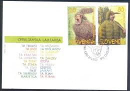 1997 Slovenia Slowenien Fdc Cover: Carnival Masks Masken; Maskues De Carnaval; ´Cerkljanska Laufarija´ Fasching, RARE - Carnival