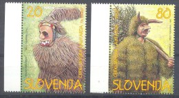 1997 Slovenia Slowenien Slovenie MNH ** Carnival Masks Masken; Maskues De Carnaval; ´Cerkljanska Laufarija´ Fasching - Carnival