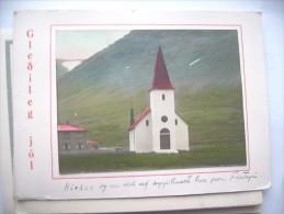 IJsland Iceland Island Gledileg Jol Flateyri Kyrken Church - IJsland