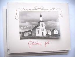 IJsland Iceland Island Gledileg Jol Akranes ? Kyrken Church - IJsland