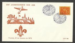 Portugal Cachet Commémoratif Scouts Radio Funchal Madère 1972 Event Pmk Madeira Scouting Air Jamboree - Pfadfinder-Bewegung