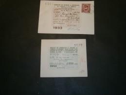 2 Cartes De Représentant De Commerce, 1933 Et 1950 , Au Nom De DE VOS Georges, Dom. à St Nicolas Puis Bruxelles - Vieux Papiers