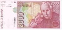 BILLETE DE 2000 PTAS DEL 24/04/1992 SERIE 1T CELESTINO MUTIS SIN CIRCULAR-UNCIRCULATED - [ 4] 1975-… : Juan Carlos I