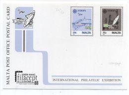 Malta FILACEPT 1988 COMPUTERS MINT POSTAL CARD - Computers