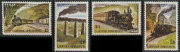 Greece Grece Hellas 1984 Mi 1564 /7 YT 1540 /3 ** Steam Train + Steam Goods Train + Cogwheel Railway - Grecia