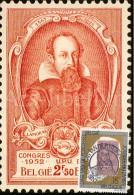 Maximumkaart België / Postzegel Koning Leopold II / 1993 / Graaf Lamoral I De Tassis, Grootmeester Der Posterijen - Cartes-maximum (CM)