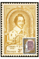 Maximumkaart België / Postzegel Koning Leopold II / 1993 / Graaf Leonard II De Tassis, Grootmeester Der Posterijen - Cartes-maximum (CM)