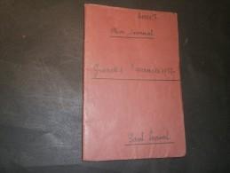 PAUL LOWAL MON JOURNAL - GRANDES VACANCES 1937 - En Belgique, Liège, Bruxelles, Ardennes, Zeebrugge Etc... - Manuscrits