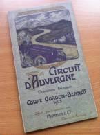 Carte Routière Michelin Circuit D´Auvergne Coupe Gordon-Bennett 1905 Race / Pokal REPRODUCTION - Roadmaps