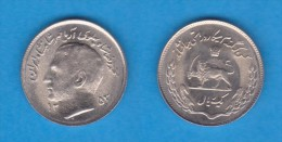 "IRAN 1 RIAL   SH1353   Cu-Ni   F.A.O.   KM#1183     ""Muhammad Reza Shad Pahlavi""      SC/UNC    T-DL-11.407 - Irán"