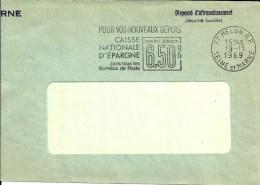 Lettre EMA  Caisse Nationale Epargne  6.5% Theme  A 71/41 - 1969