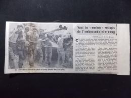 Coupure de presse PROMO voir description Voici les Marines rescap�s de L embuscade vietcong Saigon