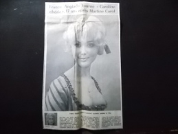 Coupure de presse PROMO voir description France Anglade tourne Caroline ch�rie 17 ans apr�s Martine Carol