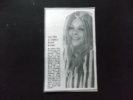 Coupure de presse PROMO voir description Sandra Milo La Fille d Italie devient Grecque