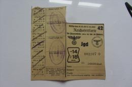Carte De Rationnement Alsace Saverne 1942 Pour Enfant - Vieux Papiers
