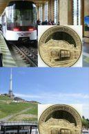 Médaille   Touristique  SUPERBE  Et  NEUVE  **Panoramique Des Domes**  Accés Sommet Puy De Dome - Monnaie De Paris