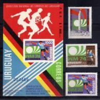 1974 - Uruguay - Mi 1302/-1304** + HB 1304 B** - MNH - UR-163 - 01 - Copa Mundial