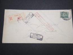FRANCE - Enveloppe En Recommandée De Paris En 1943 Et Retour - A Voir - Lot P13181 - 1921-1960: Modern Period