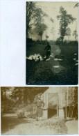Lovendegem: 2 Fotokaarten: Château Du Rabot -Pont Du Bièrstal - Le Jardinier Henri Moutou - Lovendegem