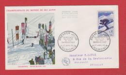 France //  Premier Jour  //  Chamonix Mont Blanc  //  Championnat De Ski Alpin //  27 Janvier 1962  //  Côte 17 € - 1960-1969