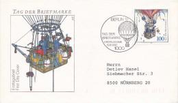 K3667 - BRD (1992) 1000 Berlin 12: Stamps Day (FDC) (stamp: postman; balloon)
