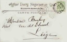 HANEFFE REMICOURT 1909  ARTHUR DISCRY Négoce De Vins - Remicourt