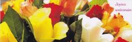 CPM  ( Format Marque Page + ENVELOPPE)      FLEURS  ANNIVERSAIRE - Blumen
