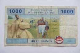 1000 F Afrique Centrale - États D'Afrique Centrale