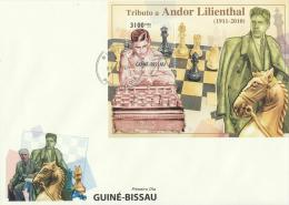 Guinea-Bissau 2010 - Cover: FDC - Chess - Ajedrez