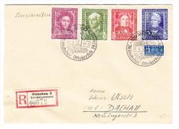 D - BRD 29.9.1950 München 2 Sonderstempel Oktoberfest R-Brief Nach Dachau Mit Serie Mi.#117-120 - BRD